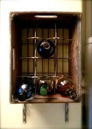 Vintage Milk Crate Wine Rack