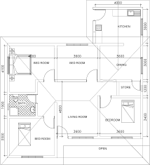 single story small house plan floor plan dwg net cad