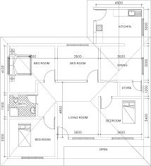 single story small house plan floor plan dwg net cad
