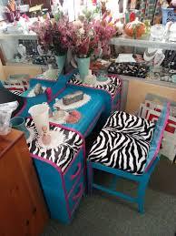 Waterfall Vanity Dresser Set by Zebra Pink Teal Black White Circa 30 U0027s Antique Waterfall
