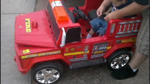 100 Power Wheels Fire Truck Truck 36V YouTube