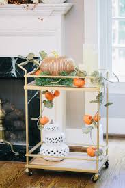 Bar Cart From Target With Pumpkin Autumn Garland And Filigree And ... This Trolystyle Cart On Brassaccented Casters Is Great As A Fniture Charming Big Lots Kitchen Chairs Cart Review Brown And Tristan Bar Pottery Barn Au Highquality 3d Models For Interior Design Ingreendecor Best 25 Farmhouse Bar Carts Ideas Pinterest Window Coffee Portable Home Have You Seen The New Ken Fulk Stuff At Carrie D Sonoma For Versatile Placement In Your Room Midcentury West Elm 54 Best Bars Carts Images The Jungalow Instagram We Love Good
