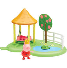 New Peppa Pig Princess Peppas Enchanted Garden Playset With Swing