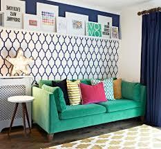 Ikea Green Sofa Velvet With Removable Wallpaper Living Room Buckinghamshire And