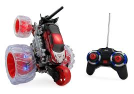 100 Monster Truck Remote Control Rc Stunt Car 360 Cyclone Wheel Super Spinning Toy For Kids