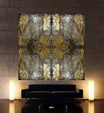 steingold abstrakt leinwand bild schwarz blau grau wandbild über sofa modern