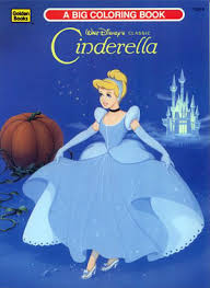 Walt Disneys Cinderella Coloring Book 1991 A Big By Golden Books