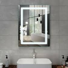 details zu led wandspiegel badspiegel touch badezimmer spiegel mit beleuchtung 60x80 cm