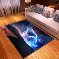 3d teppiche und teppiche für home wohnzimmer kinder zimmer wilden wolf volle mon teppich große weiche boden matte bunte flur küche tapete