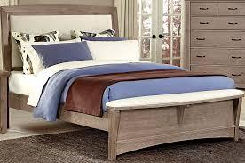 bedroom vaughan bassett reflections oak sleigh bed sfdark