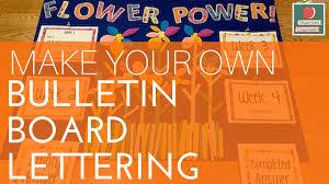Bulletin Board Lettering Video Tutorial