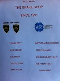 Brake And Lamp Inspection Fresno Ca by Brake Shop 1844 E Olive Ave Fresno Ca Auto Repair Mapquest