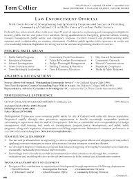Law En Job Resume Examples Police