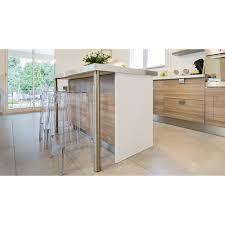 table cuisine inox pied de plan de travail cylindrique réglable inox brossé gris de