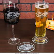 Harley Davidson Bath Decor by Harley Davidson Beer And Wine Glass Gift Set Bar Accessories