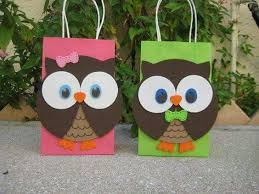 Goodie Bags Owl Parties Party Favors Owls Crafts Art Paper Home Candies Table