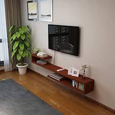 wand tv schrank schwebende regal schlafzimmer wohnzimmer