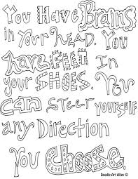 Simple Teen Quote Coloring Pages Print