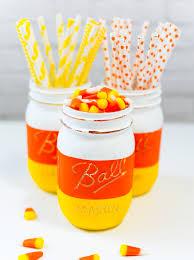 Halloween Candy Dish Craft by Candy Corn Mason Jars For Halloween Mason Jar Crafts Love