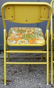 vintage velvet folding chairs gold velvet metal by vintageandswoon