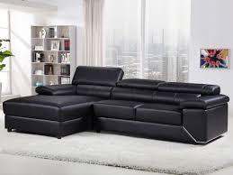 canapé cuir noir canapé d angle en cuir reconstitué pvc 4 places noir