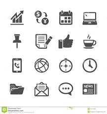 icone bureau affaires et ensemble d icône de travail de bureau vecteur eps10