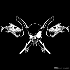2018 25.4*14cm Reflective Car Stickers Fishing Skull Skeleton Fish ... 2 Fish Skeleton Decals Car Sticker Fishing Boat Canoe Kayak Rodfather Funny Vancar Jdm Vw Dub Vag Euro Vinyl Decal Tancredy Go Stickers And Bumper Bass Truck Wall Window 1pc High Quality 15179cm Id Rather Be Fly Angler Vinyl Decal Fly Fishing Sticker Ice Hell When Freezes Over Ill Visit To Buy 14684cm Is Good Bruce Pinterest 2018 Styling Daiwa Brand And For Hooked On Outdoor Life Camping