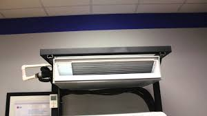 Mini Split Ceiling Cassette Air Conditioner by Lg Ducted Mini Split Review Youtube