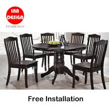 Edian 1+6 Dining Set (Solid Wood) (Free Delivery And Installation) Ding Table Marble Birch Wood Grindleburg Room Ashley Fniture Homestore How To Paint A Chairs Home Guides Sf Chair Wikipedia Choose The Right For Your The New History And Outlook Of Chinas Housing Market Sprgerlink Fashion Wedding Banquet Tablecloth Restaurant Washable Round Rectangle Cover 60 Tablecloths Do I Determine Proper Size Ultimate List Solemnisation Venues In Singapore Every Artek Childrens Tables Chair Stool Alvar Aalto