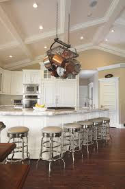 rustic coffered ceiling kitchen traditional with vaulted ceiling