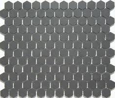 eggshell matte 2 in glazed porcelain hexagon mosaic tile product