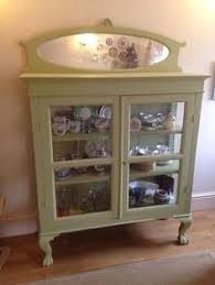 vintage retro upcycled glass display cabinet glass display