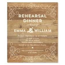 Elegant Reception Rehearsal Dinner Invitations Rustic