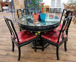 Chinese Dining Table 4 Chairs