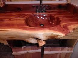 Handcrafted Handcarved Cedar Log Bathroom By CedarRifficDesigns 230000