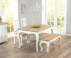 Shabby Chic Bench Dining Table With Chairs And Benches Cushion