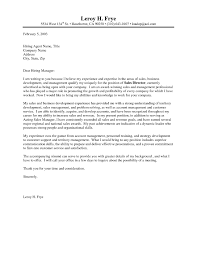 Cover Letter For Resume Sales Manager Images Gallery