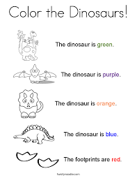 Color The Dinosaurs Coloring Page