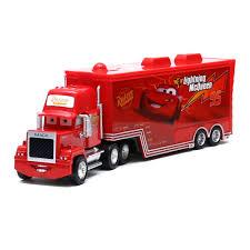 100 Lightning Mcqueen Truck Disney Pixar Cars Mack NO95 McQueen 155 Diecast