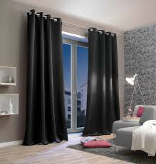 vorhang mit ösen verdunkelung b 135 cm schwarz
