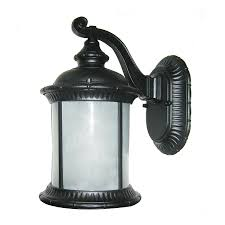 shop whitfield lighting brayden 12 in h black outdoor wall light