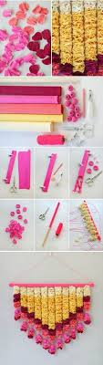 Make This Gorgeous Wall Hanging With Crepe Paper And A Few Tools Like The Screw Punch From Martha Stewart Crafts Click Through For Full Tutorial On Oh