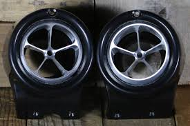 100 72 Chevy Truck 67 Billet Aluminum 5 Vane AC Vents With Black Bezel