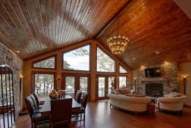 100 Dream Home Design Usa Beams And Trim Add An Authentic Rustic Touch To Lakefront