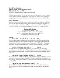 Line Cook Resume Objective Samples Head Chef Templates Examples Job Pastry Template No Experience