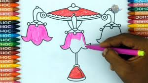 How To Draw Chandelier And Colouring Book For Kidscoloring Pagedrawing Videostoddlers Kids