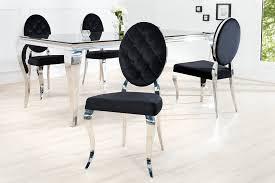 design stuhl barock esszimmerstuhl schwarz silber