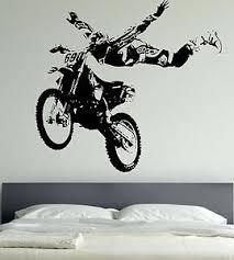 motocross motor bike sports sticker wall mural