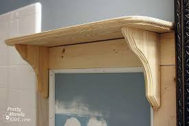 how to build a built in decorative shelf pretty handy