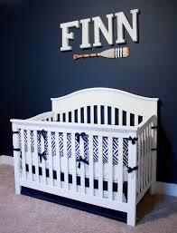 Nautical Crib Bedding by Home Tour Finn U0027s Nautical Nursery